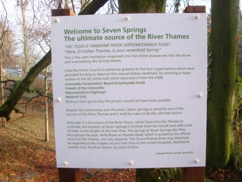 Information plaque at Seven Springs