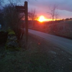 Sunset from the Cotswold Way